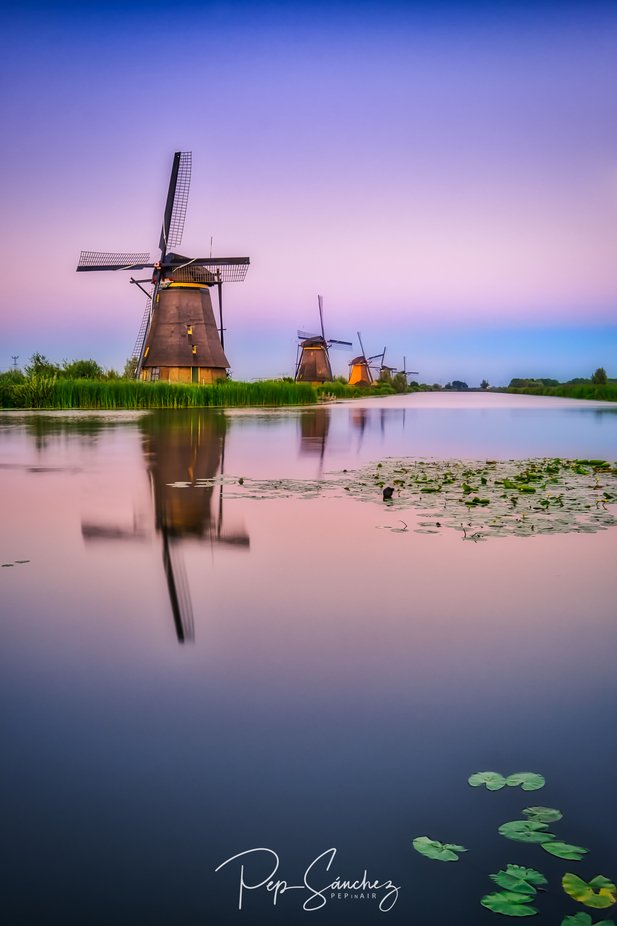 Sunset in the windmills by pepinair - Monthly Pro Photo Contest Vol 45