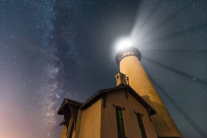 Yaquina Lightshow on the Oregon Coast by DreamCapturedImages - Monthly Pro Photo Contest Vol 45
