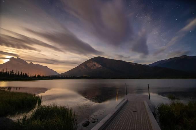 Vermilion Lakes moonrise by gregedwards_5375 - Canada Photo Contest