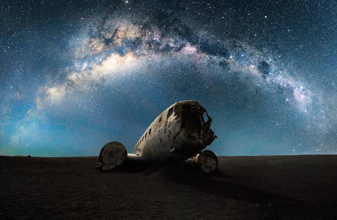 Lonely plane wreck by sarapopovic - Image Of The Month Photo Contest Vol 37