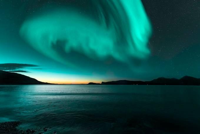 Aurora VS Sunset by paaluglefisklund - Monthly Pro Photo Contest Vol 45