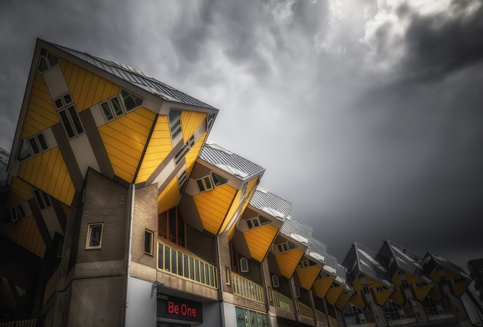 Cube Houses After The Storm by CPF_Photography - Monthly Pro Photo Contest Vol 45