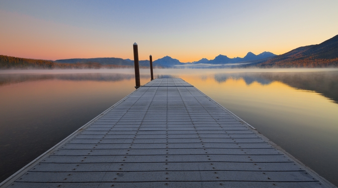 Sunrise on Lake McDonald by clfowler - Monthly Pro Photo Contest Vol 45