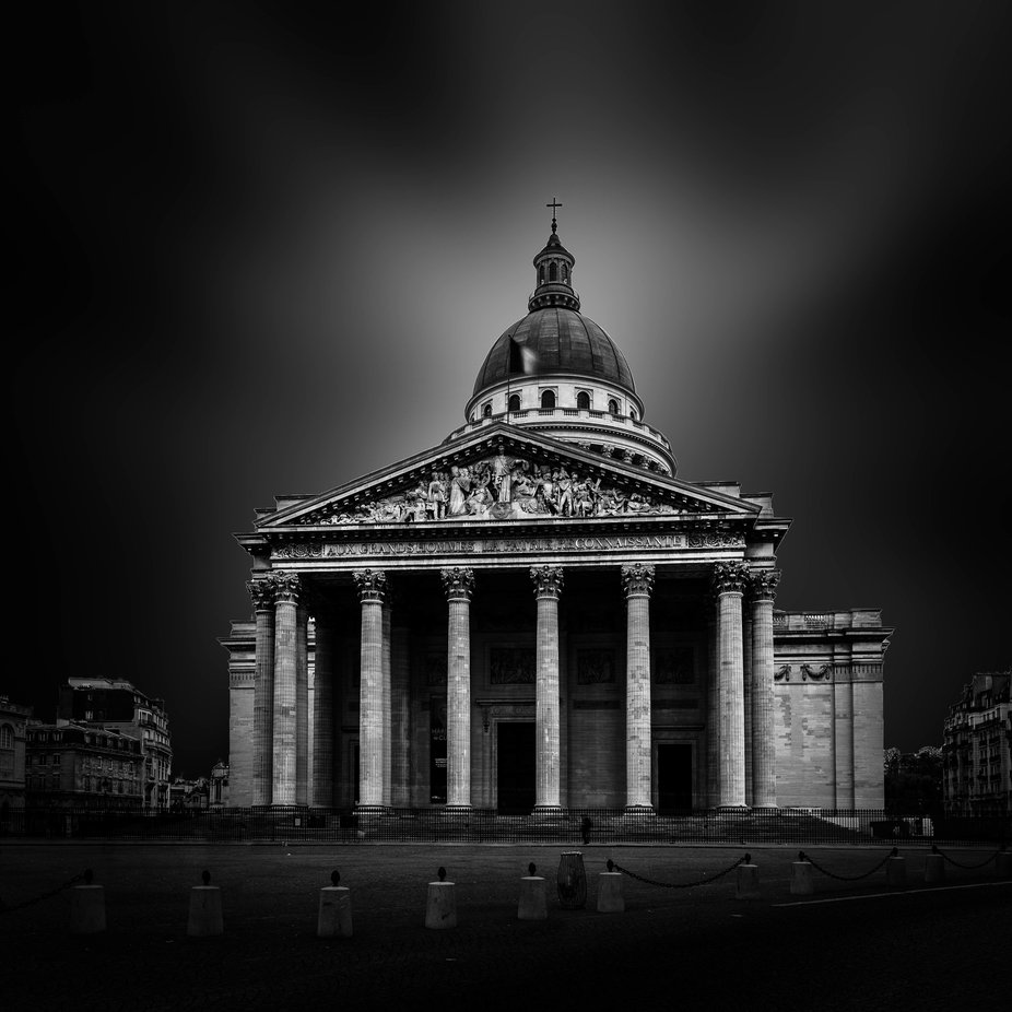 The Panthéon at Paris in B/W by FredericMONIN - My Best New Shot Photo Contest