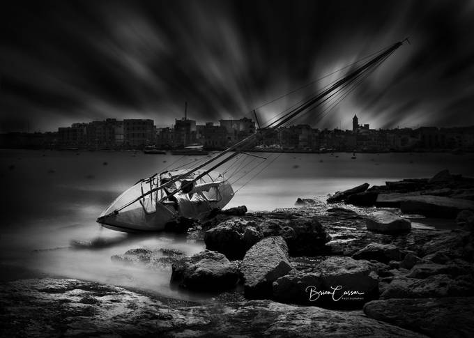 Boat wreck by briancassar - My Best New Shot Photo Contest