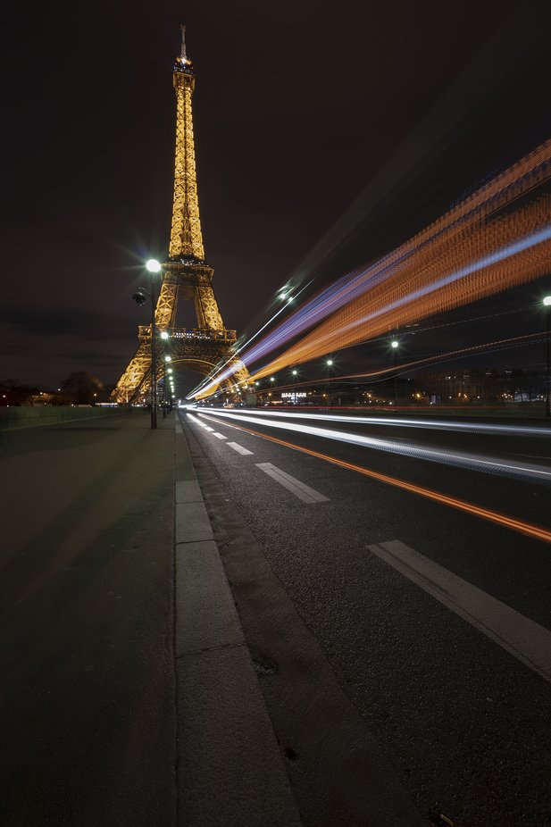 Busy Road to The Eiffel Tower Paris  Bob Riach Jigsaw Photography LTD by Bob-Riach - My Best New Shot Photo Contest