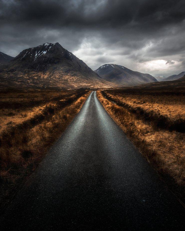 One of Glencoes best roads  by mattbenham - My Best New Shot Photo Contest