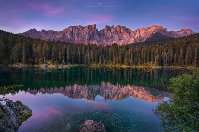 Sunrise at Lago di Carezza by alex_lauterbach - My Best New Shot Photo Contest