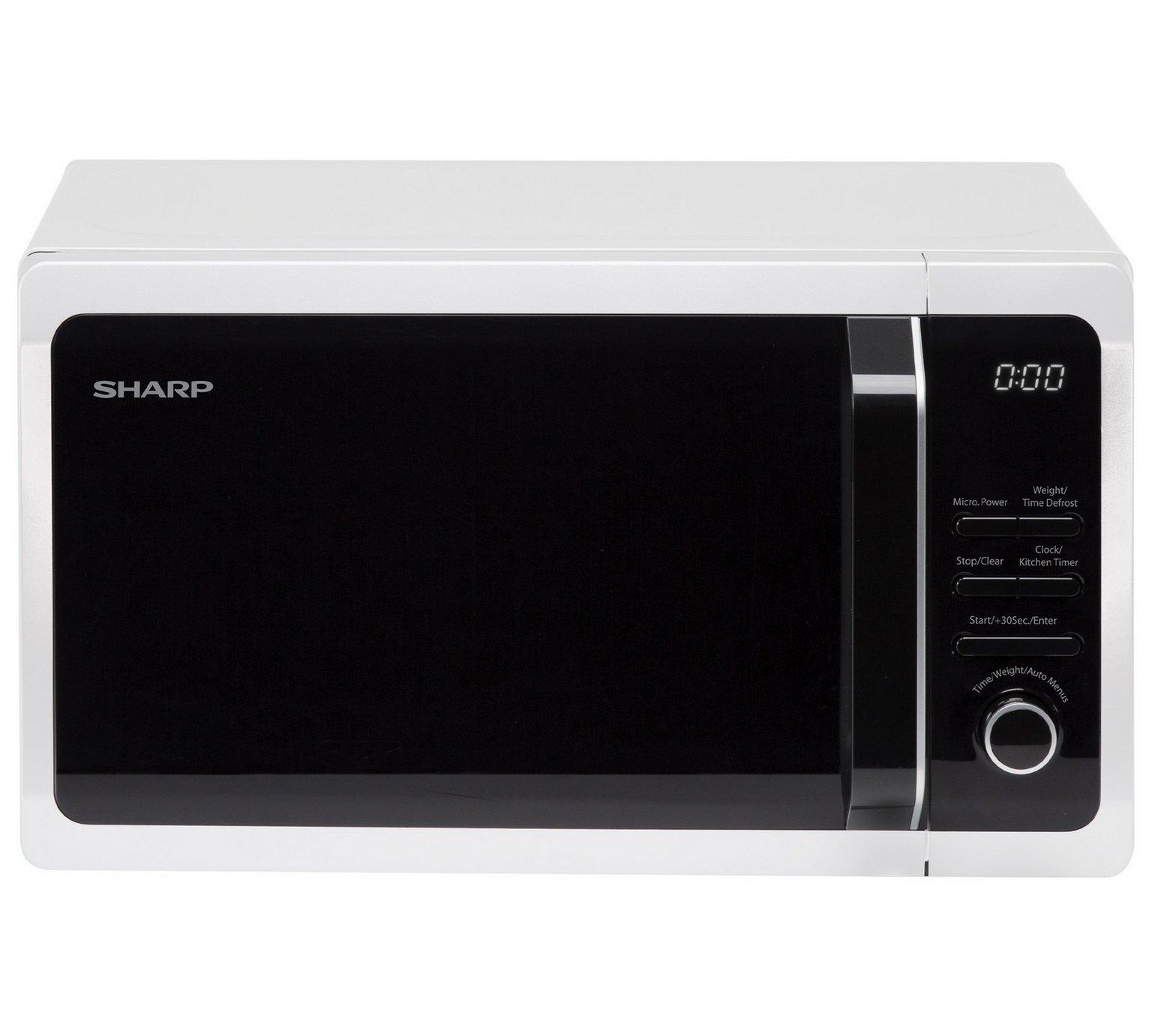 sharp r274wm 20 litre 800 watt microwave in white
