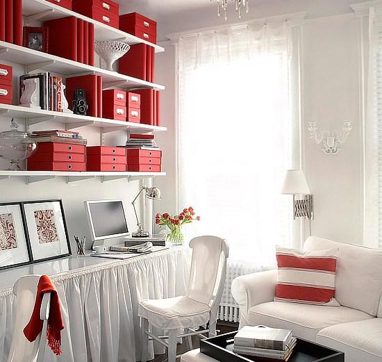 Γραφείο στο σαλόνι
