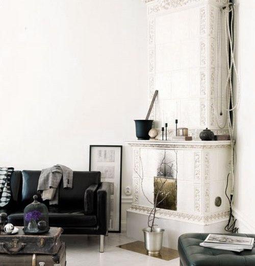 Black, white, vintage, modern