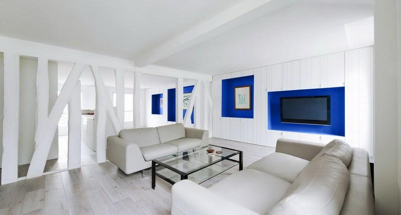 Οικιακή Πινακοθήκη σε λευκό και μπλε