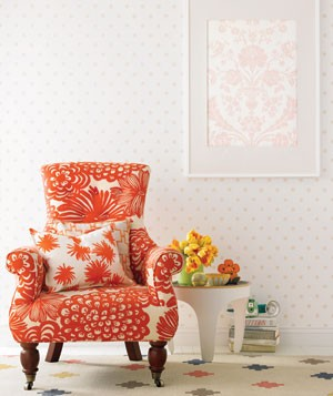 yellow-orange-chair-unique-color-combination-living-room-decor-white-wall-spring-summer-idea-colorful-fun-elegant