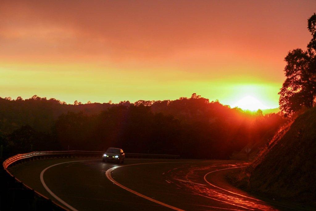 Sonnenuntergang in der Sierra Nevada