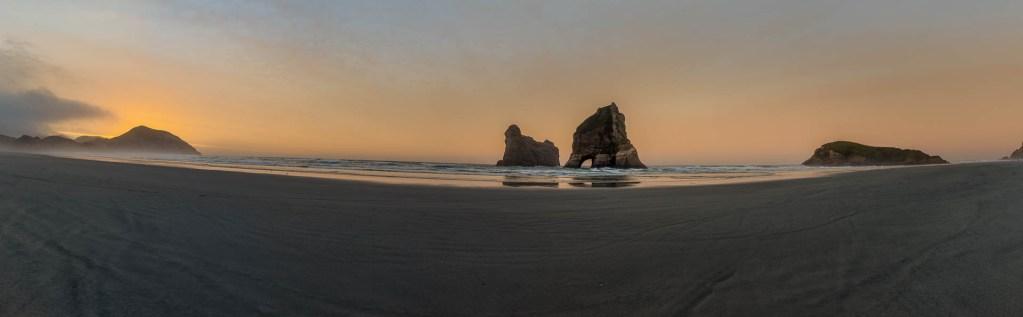 Wharariki Beach Pano