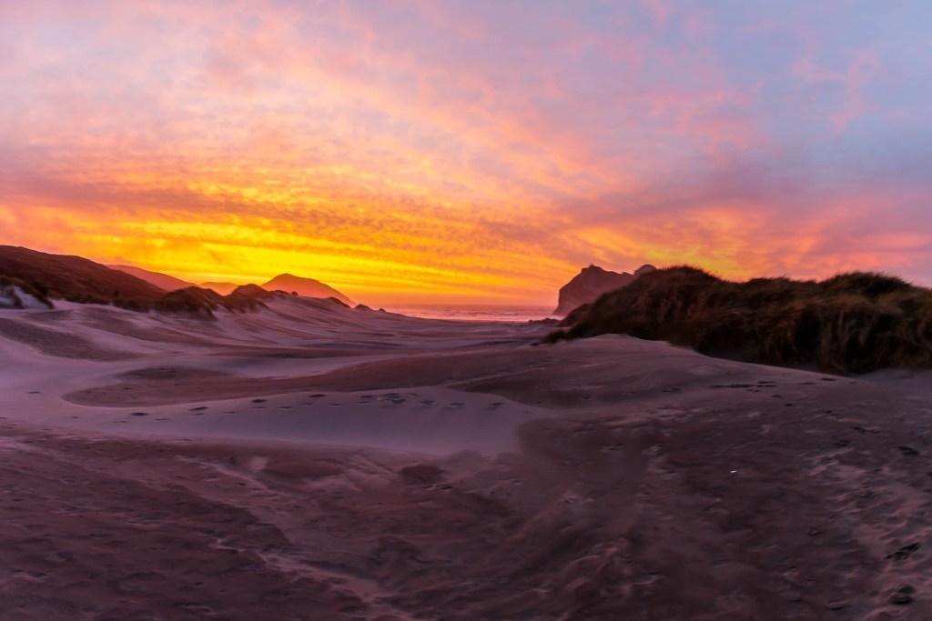 Wharariki Beach Sunset II