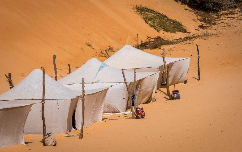 die Zelte für die Nacht