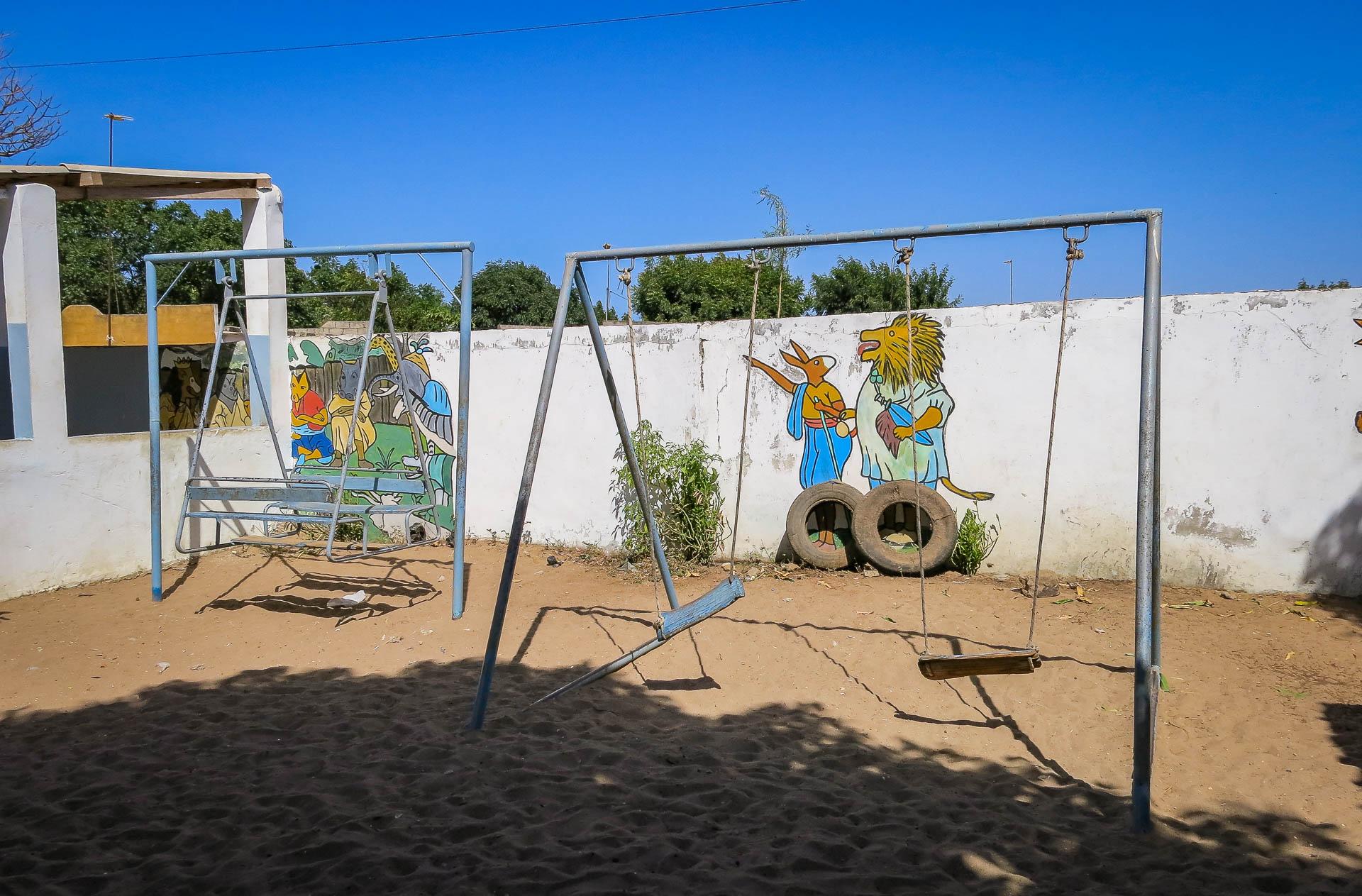 Spielplatz im Hof des Kindergartens