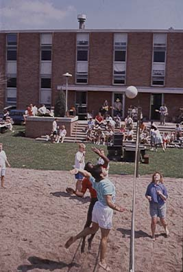Volleyball outside dorms