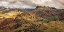 Stuart Bennett - The Langdales (Landscape - Print, Gold)