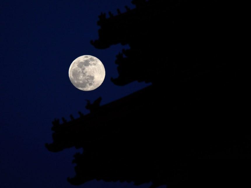 Full moon night over Forbidden City - Danger ahead