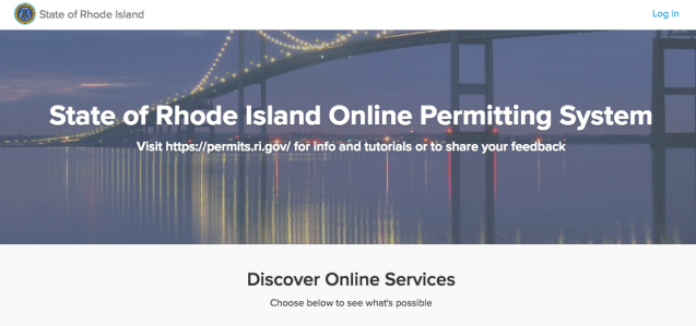 Rhode Island ePermitting portal ViewPoint Cloud