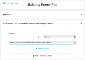 Automatic Fees Building Perming | ViewPoint Cloud ePermitting