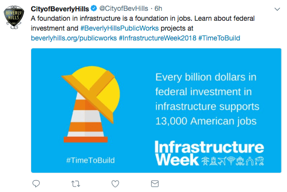 City of Beverly Hills CA Infrustructure Week Public Works Department