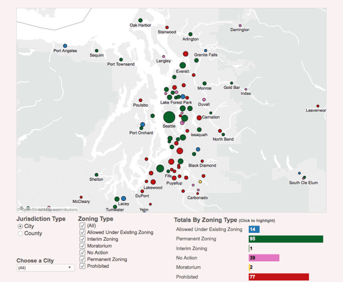 Marijuana Regulation Zoning Types in Washington State