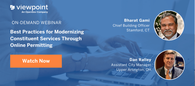 Banner - Best Practices for Modernizing Constituent Services Through Online Permitting