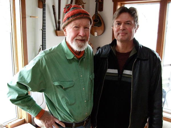 Pete Seeger and Jesse Drew up the Hudson.