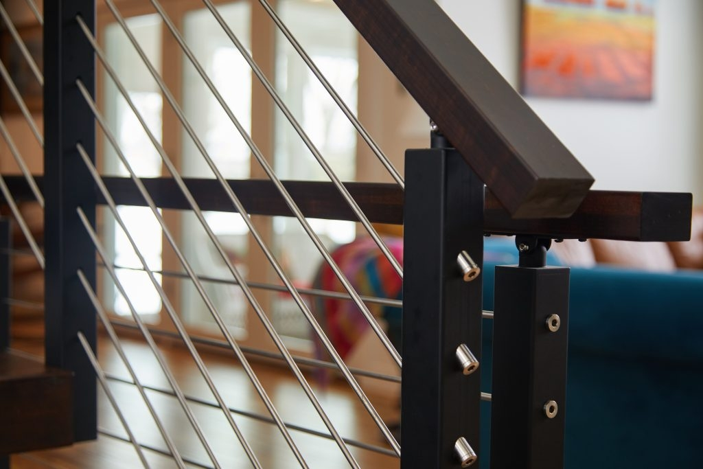 Stainless Steel Railing Rod Stair Railing Kits Posts Parts   Horizontal Iron Stair Railing   Chris Loves   Modern   Popular   Low Cost   Remodel