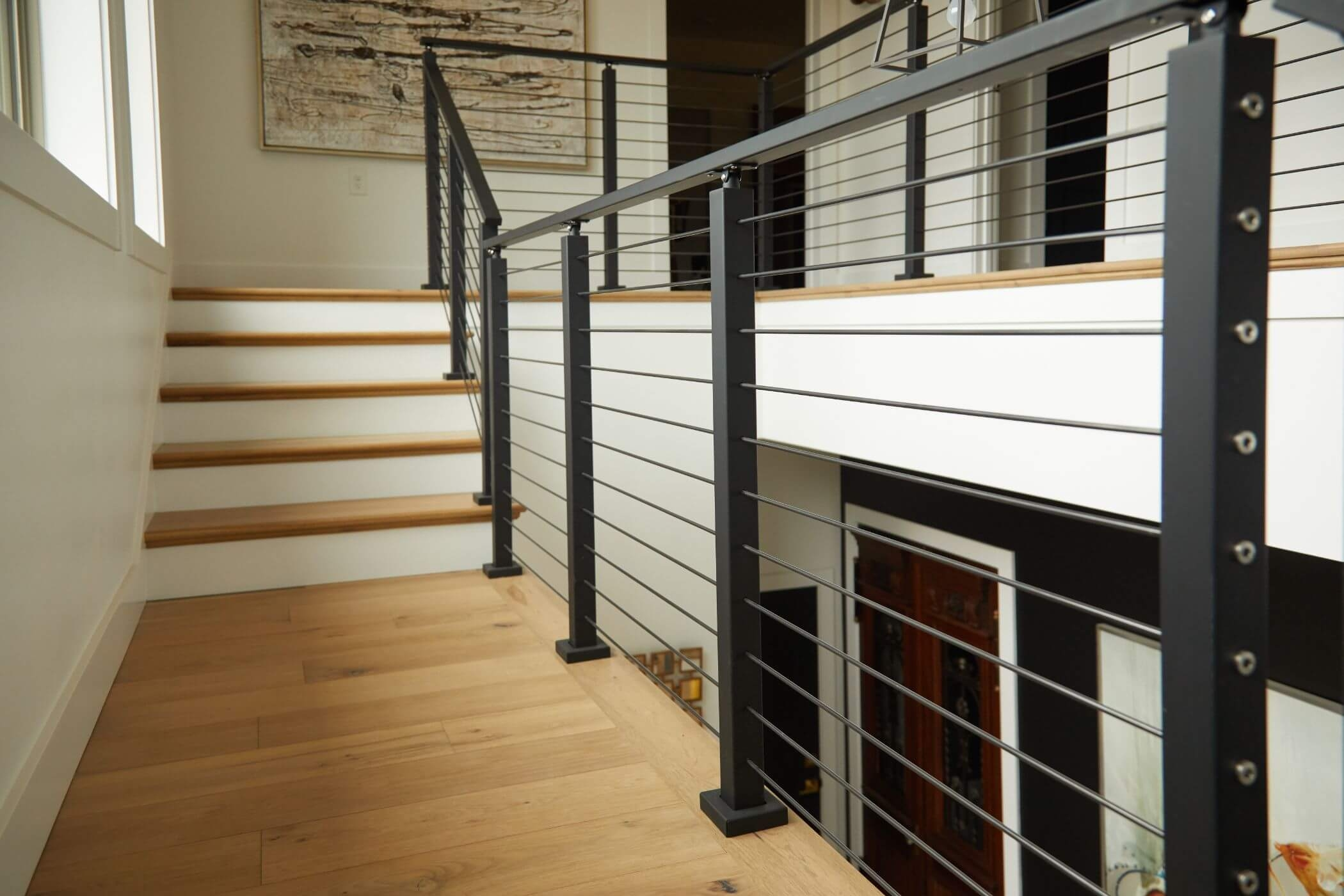 Stainless Steel Railing Rod Stair Railing Kits Posts Parts | Steel Railing For Stairs Price | Fancy | Iron Work | Ss Handrail | Cheap | Inside