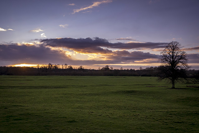 Start of Sunset - Sunset in the Ouse Valley, Milton Keynes
