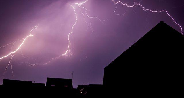 Lightning over my home
