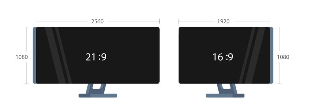 Ultrawide (21:9) vs. standard (16:9) monitor