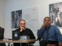 Juan José Maraña y Manuel Lobato durante la presentación del libro [Clic para ampliar la imagen]