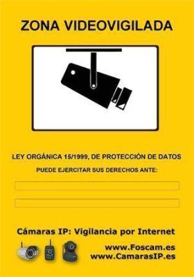cartel videovigilancia