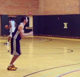 Indiana's Will Sheehey works out for the Pacers.