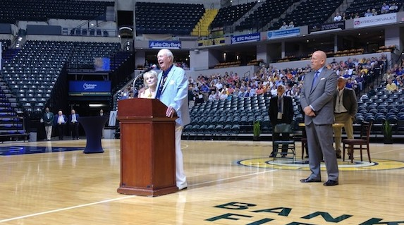 Slick Leonard is beloved by the basketball community in Indiana.