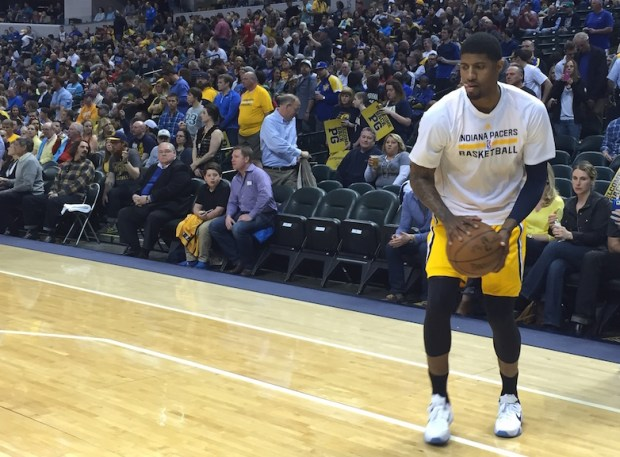 Paul George will waive the green flag at Sunday's Indy 500.