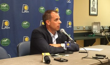 Pacers coach Frank Vogel and Larry Bird both want to play at a faster pace.