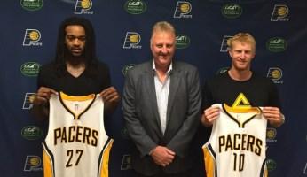 Larry Bird added Jordan Hill and traded for Chase Budinger.