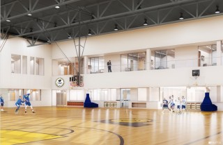 The new facility will feature two basketball courts, training rooms, and other amenities.