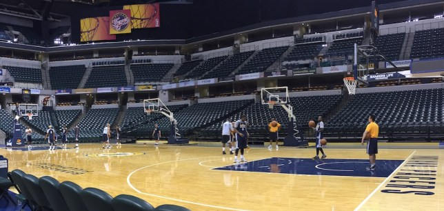 Pacers camp opens with 17 players.