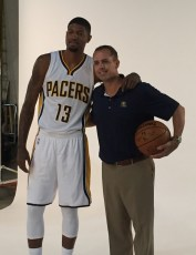 Vogel with his star, Paul George.