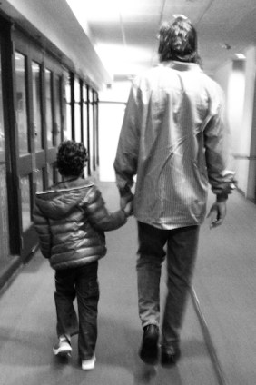 One of my favorite pictures from Scola's time in Indy, arriving at the arena with Tomas.