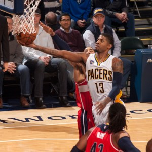 Paul George will play in his third All-Star game on Feb. 14 in Toronto. [Photo: Frank McGrath/PS&E]