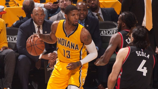 Paul George averaged 27.3 points per game in the postseason, second to only Kyrie Irving (27.5). [Frank McGrath/PS&E]