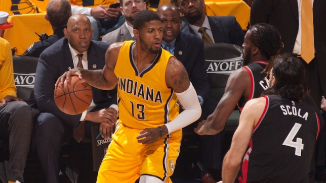 Paul George led all scorers with 25, but he was just 6-of-19 from the field and 1-of-8 from range. [Photo: Frank McGrath/PS&E]